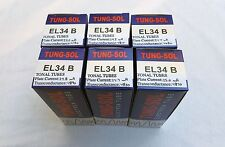 New 6x Tung-Sol EL34B / EL34 | Matched Sextet / Six Tubes