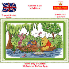 Disney Pooh and Piglet in a Boat Counted Cross Stitch Kit (Same Day Dispatch)
