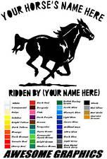 "2  x 22"" GALLOPING HORSE, TRAILER / VAN CAR DECALS VINYL GRAPHICS STICKER"