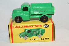1950's Dinky Dublo #064 Austin Lorry, Black Wheels, Nice Boxed