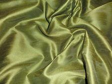 LIME GREEN CAPRICE DUPIONI FAUX SILK FABRIC WEDDING BRIDESMAID DRESS DRAPE SHIRT