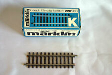 Marklin 2201 HO K Track Straight (Set Of 10) in Original Carton