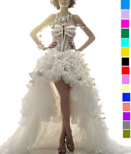 VENUS Sexy Crystals Bridal Special Occasion / Wedding Dress Tail Short Long Gown