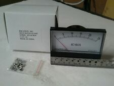 Panel Meter, 0 - 25 AC Volt Meter. 95 x 75mm