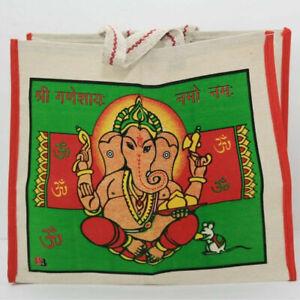 Einkaufstasche XL Tragetasche OM Ganesh Buddha Indien Tasche mit Reißverschluss