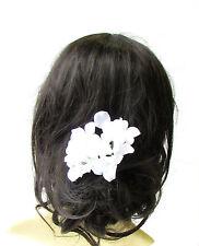 Large White Hydrangea Flower Hair Pin Bridesmaid Blossom Headpiece Floral 1985