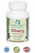 Bilberry Extract Plus Standardized- 60 Caps Red Grapeskin Bioflavonoids DEAL!
