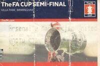 Ticket - Arsenal v Manchester United 03.04.04 FA Cup Semi-Final @ Aston Villa