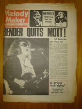 MELODY MAKER 1974 SEP 21 MOTT THE HOOPLE CSN&Y OLDFIELD