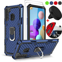 For Samsung Galaxy A21 A11 A01 Case Shockproof Cover +Tempered Glass +Car Holder