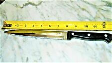 Vintage Stainless~ Chicago Cutlery~Chef's Knife~Carver~ Black Handle~bx75