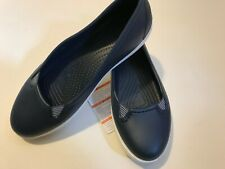 NEW Crocs~Navy Blue/White~Citilane Flat~Relaxed Fit~Size10W~BOAT or SHOPPING NWT