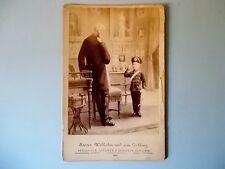 große CDV Kaiser WilhelmⅠ1888 mit Sohn Kabinettfoto Militaria Adel
