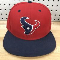 Houston Texans Logo NFL Football New Era 59FIFTY Red Fitted Cap 7-1/2 EUC Hat