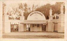 Real Photo Postcard Main Entrance Amusement Park Exposition Zoo Festival~127328