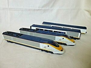 Jouef HO Gauge Eurostar Train Set 3211 & 3212 and Coaches FOR SPARES OR REPAIR