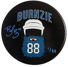 Brent Burns San Jose Sharks Signed Limited Edition BURNZIE BEARD  Puck In Blue