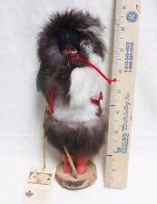 Vintage Indien Art Eskimo Girl Doll w/Fur clothing Saint Tite Quebec Canada