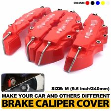 4 Pcs 240mm Red 3D Style Brake Caliper Covers Universal Car Disc Front Rear Kits