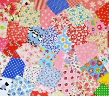PATCHWORK FABRIC SCRAPS SAMPLES OFFCUTS CRAFT MATERIAL *30 PIECE VALUE BUNDLE*