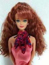 Barbie 1992 Magic Earring Midge Doll Vintage Crimped Red Hair Diva Redressed