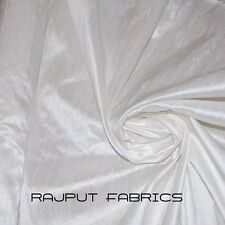 54 Wide 100% Natural Silk Dupioni White Fabric Luxurious HIGHQUALITY By The Yard
