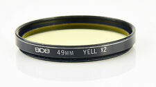 49mm Yellow Y X2 Filter for camera lens SLR DSLR
