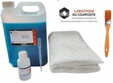 RESINE POLYESTER 5kg + 5m² de MAT 300 + 125g catalyseur + 1 pipette + 1 pinceau.