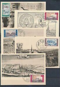 XC79256 Belgium 1966 monuments landmarks maxicards used