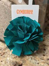 Gymboree Little Girls Teal Green Pom Pom Ribbon Alligator Clip Hairbow BNWTs