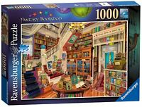 Jigsaw Puzzle - FANTASY BOOKSHOP Vintage Edition 1000 Piece Family Kids Game