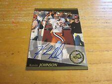 Kevin Johnson 1999 Press Pass Autographs #28 Card NFL Football Cleveland Browns