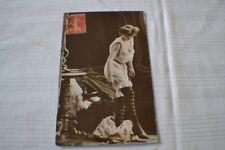 Erotische Postkarte Echtfoto coloriert Frankreich um 1910 gelaufen!!!