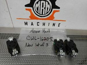 ARROW HART CWL1620R Hart-Lock Single Receptacle 30 3P 4W New In Box (Lot of 3)