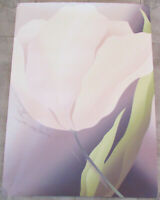 "Vintage ""White Tulip"" Limited Edition Numbered Signed Large Art Print 29.5""x41"""
