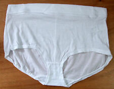 MS Chainstore Size 14 High Rise Shorts knickers Panties Briefs Cotton/poly White