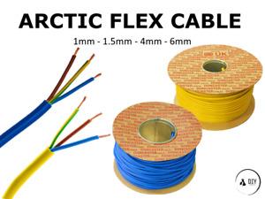 Arctic Flex Cable Blue Yellow 1mm 1.5mm 4mm 6mm 3183AG 3 Core Flex Cut to Length