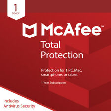 McAfee Total Protection 2018 1PC MAC TABLET 12MONTHS FAST DELIVERY SALE NOW