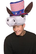 Patriot Plush Donkey Adult Head With Top Hat Halloween Rasta Imposta