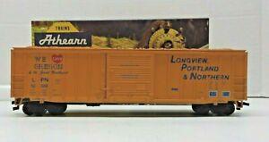 ATHEARN BEV-BEL HO SCALE 50' LONGVIEW, PORTLAND & NORTHERN SD BOX CAR LPN 52009