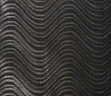 "Charcoal Wave Swirl Flocking Velvet Upholstery Fabric 58"" Sold By Yard"