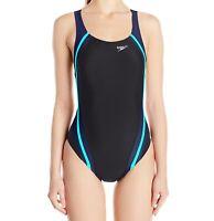 Speedo Green Black Womens Size 14 Powerflex Ultraback One-Piece Swimsuit $78 848