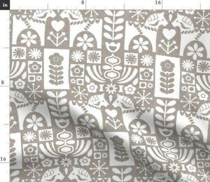 Swedish Mid Century Mcm Dala Horse Spoonflower Fabric by the Yard