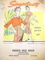 Vintage Simplicity Pattern Booklet 1950S