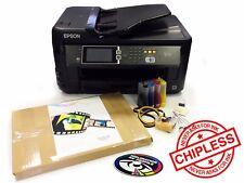 COLORANTE A3 SUB Sublimazione Stampante Pack inchiostro Epson WF-7610 + Sistema Di Inchiostro + + A3 carta