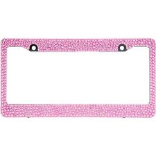 Pink Mix Size Crystal Rhinestones License Plate Frame Special Bling Offer