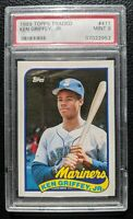 1989 TOPPS TRADED #41T KEN GRIFFEY JR ROOKIE CARD RC SEATTLE MARINERS HOF PSA 9