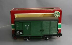 LGB 4135S Boxcar with Steam Sounds (Metal Wheels) EX/Box