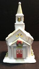 Partylite Tealight House The Village Church Christmas Wreath Snow Theme Large