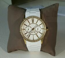 Esprit Uhr Double Infusion gold Tag Datum Strass Silikon Damenuhr ES106122011